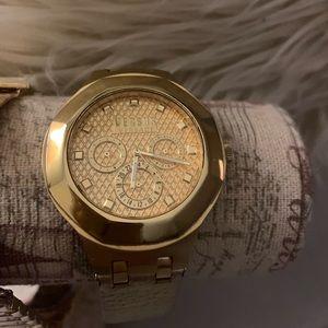 Gold Versace Watch